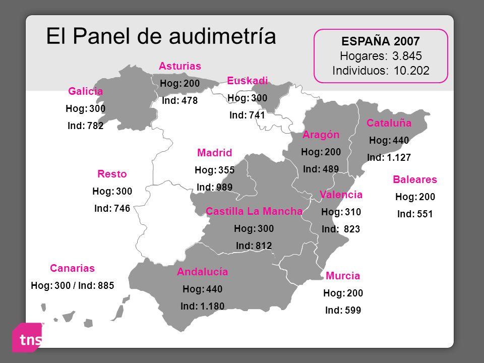 ESPAÑA 2007 Hogares: 3.845 Individuos: 10.202