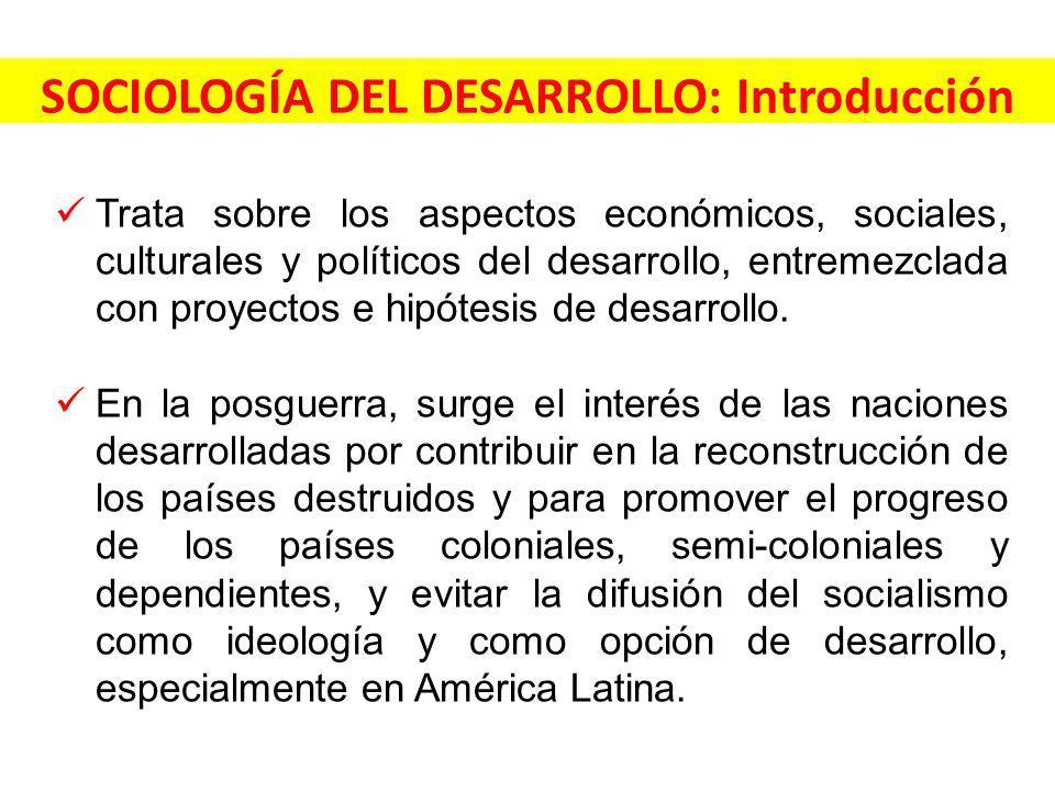 SOCIOLOGÍA DEL DESARROLLO: Introducción