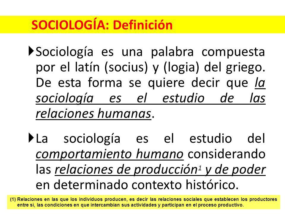 SOCIOLOGÍA: Definición