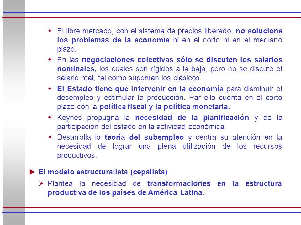 El libre mercado, con el sistema de precios liberado, no soluciona los problemas de la economía ni en el corto ni en el mediano plazo.