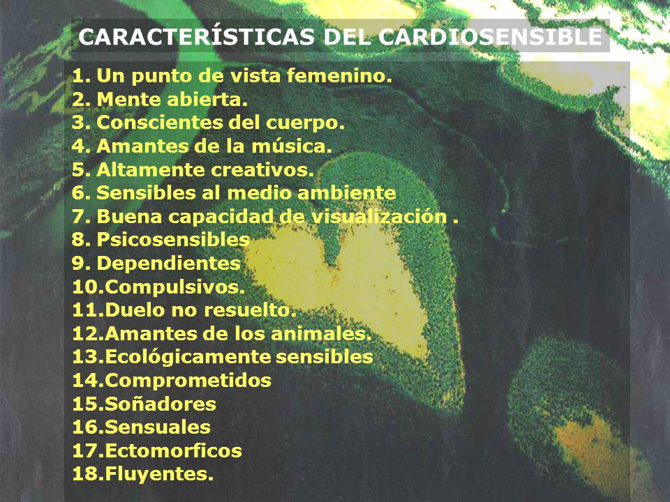 CARACTERÍSTICAS DEL CARDIOSENSIBLE