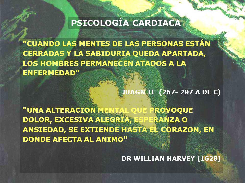 PSICOLOGÍA CARDIACA CUANDO LAS MENTES DE LAS PERSONAS ESTÁN CERRADAS Y LA SABIDURIA QUEDA APARTADA, LOS HOMBRES PERMANECEN ATADOS A LA ENFERMEDAD
