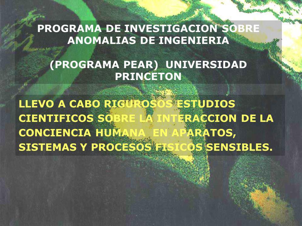 PROGRAMA DE INVESTIGACION SOBRE ANOMALIAS DE INGENIERIA