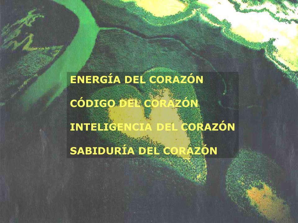 ENERGÍA DEL CORAZÓN CÓDIGO DEL CORAZÓN INTELIGENCIA DEL CORAZÓN SABIDURÍA DEL CORAZÓN