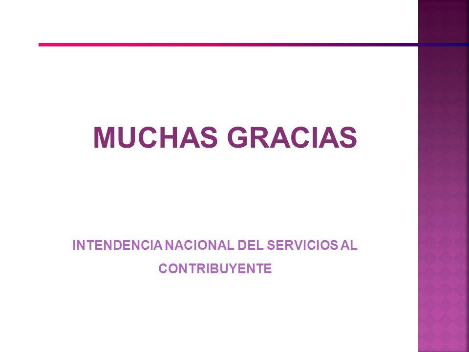 INTENDENCIA NACIONAL DEL SERVICIOS AL