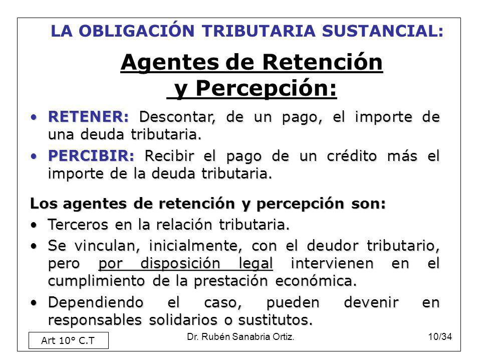 Agentes de Retención y Percepción: