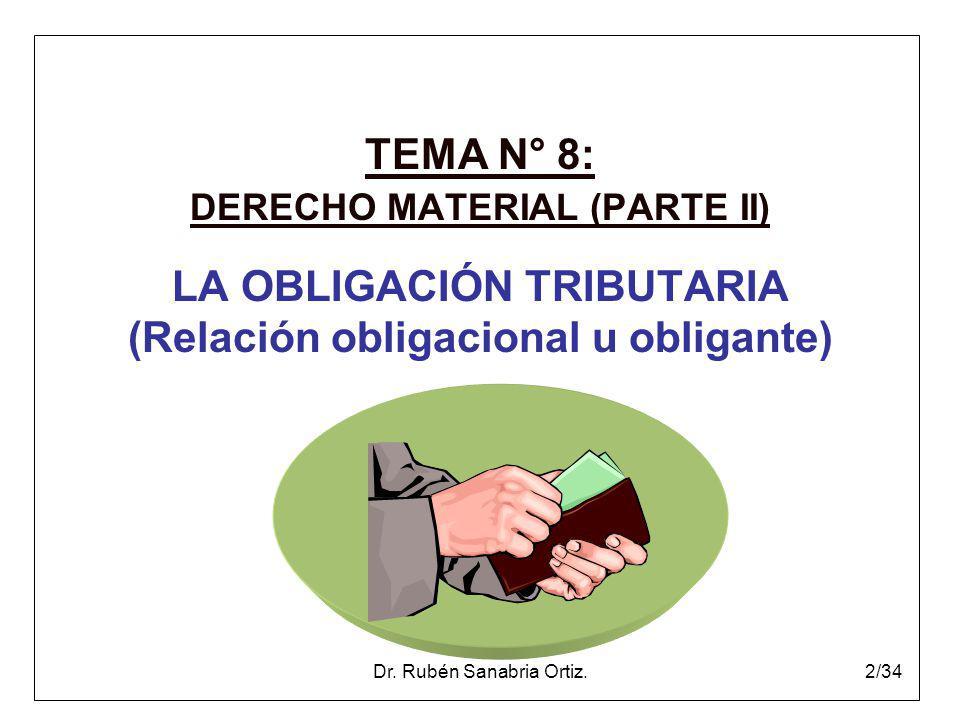 LA OBLIGACIÓN TRIBUTARIA (Relación obligacional u obligante)