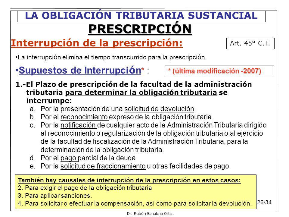 Interrupción de la prescripción: