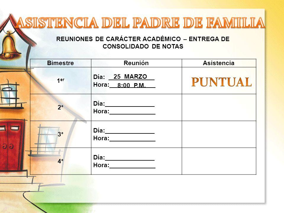 ASISTENCIA DEL PADRE DE FAMILIA
