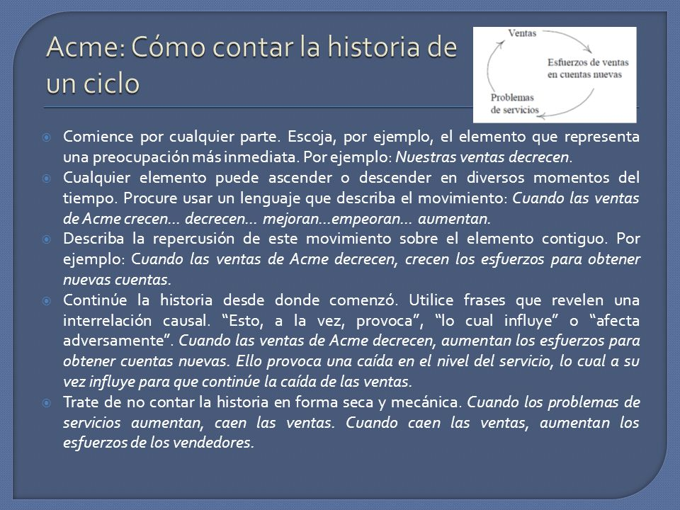 Acme: Cómo contar la historia de un ciclo