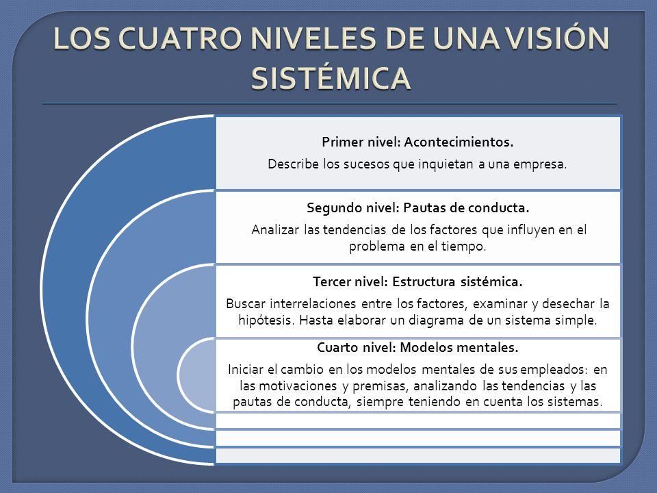 LOS CUATRO NIVELES DE UNA VISIÓN SISTÉMICA