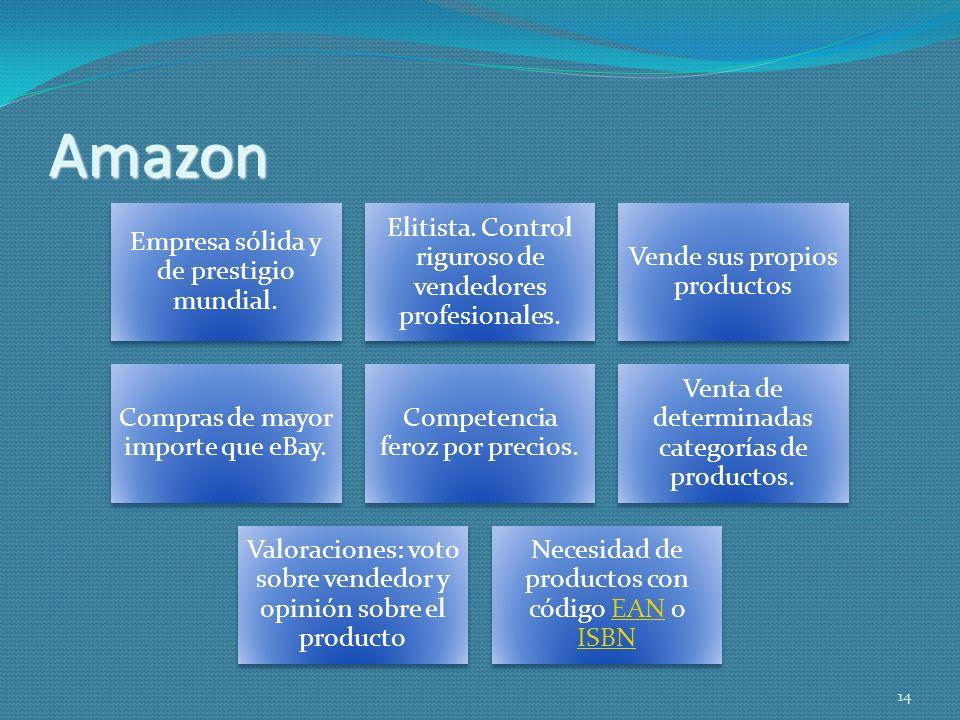 Amazon Empresa sólida y de prestigio mundial.