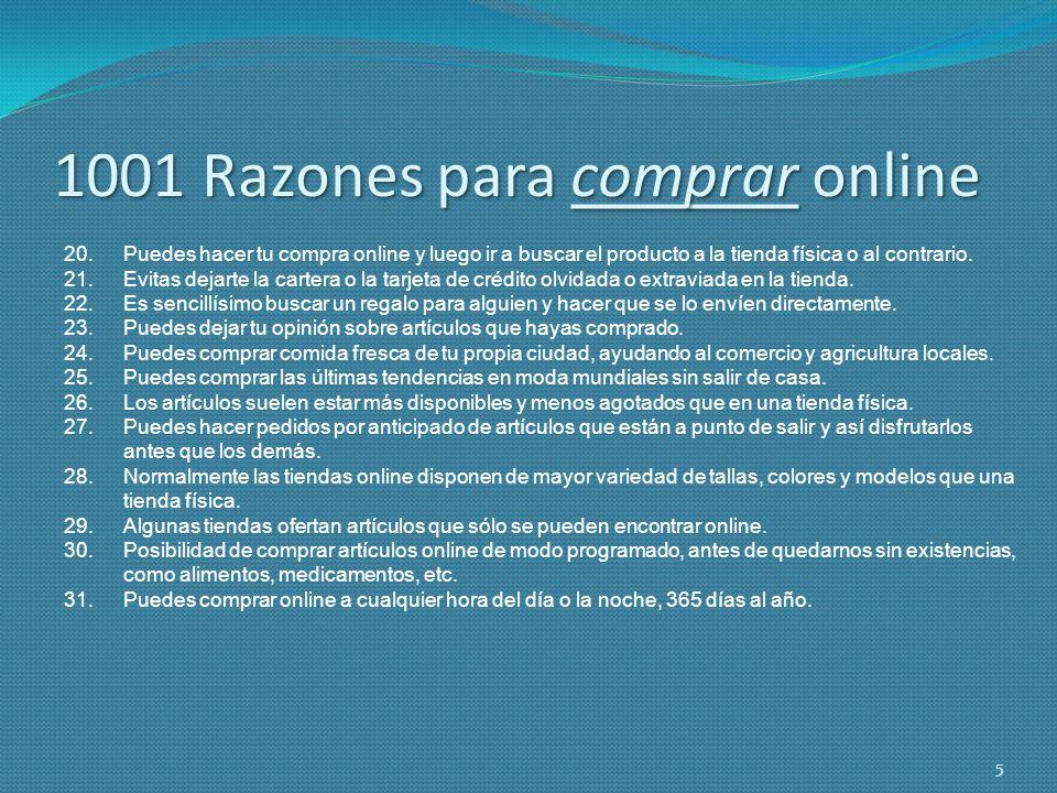 1001 Razones para comprar online