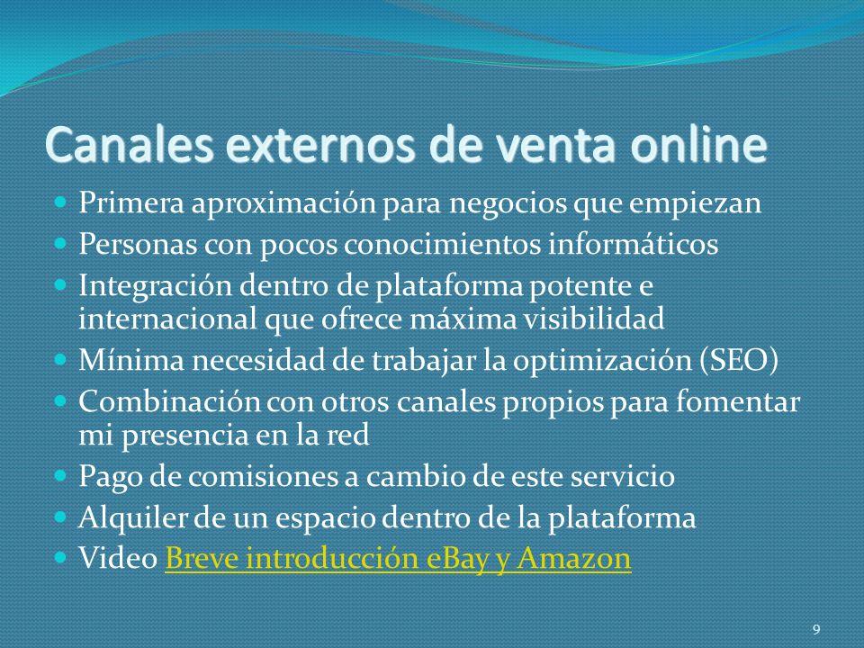 Canales externos de venta online