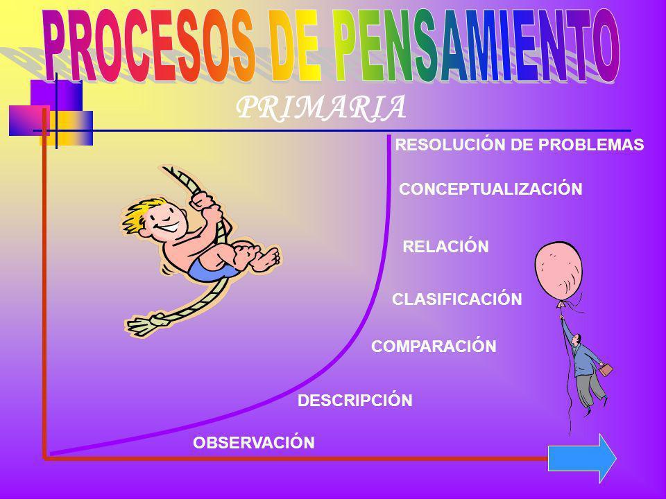 PROCESOS DE PENSAMIENTO