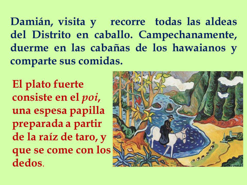 Damián, visita y recorre todas las aldeas del Distrito en caballo