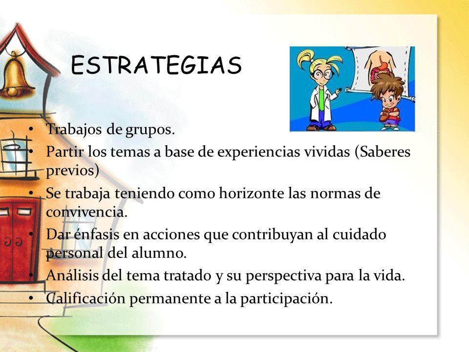 ESTRATEGIAS Trabajos de grupos.