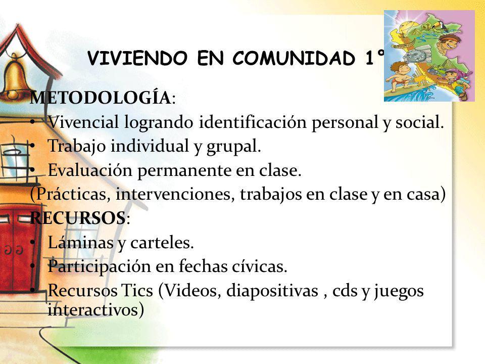 VIVIENDO EN COMUNIDAD 1°