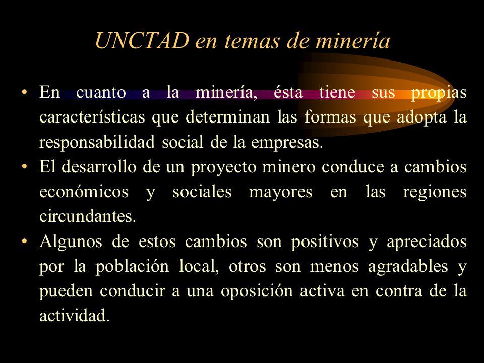 UNCTAD en temas de minería