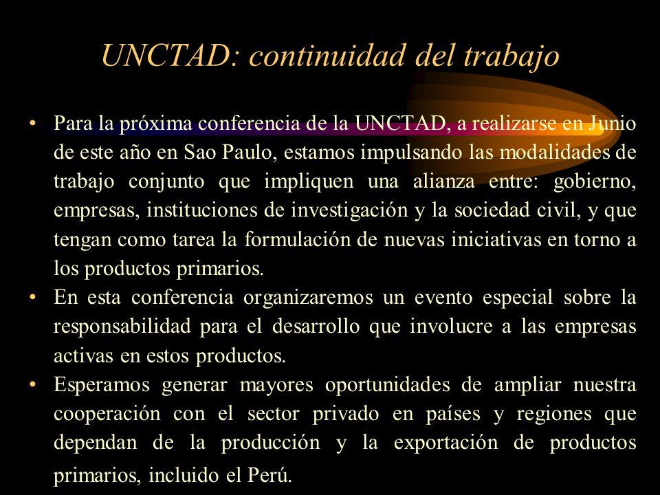 UNCTAD: continuidad del trabajo