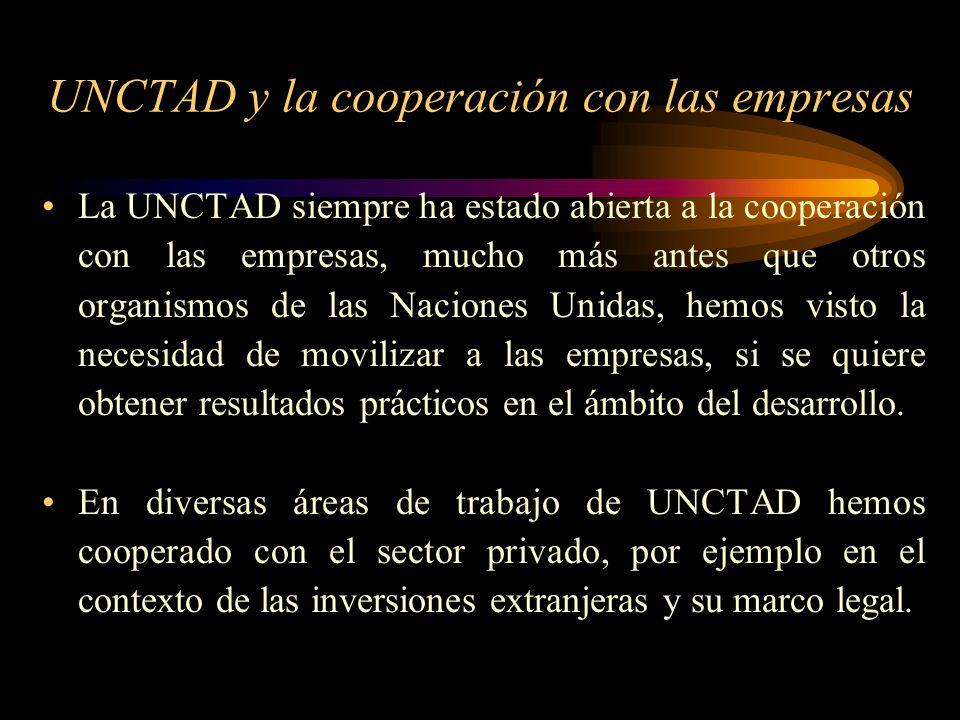 UNCTAD y la cooperación con las empresas