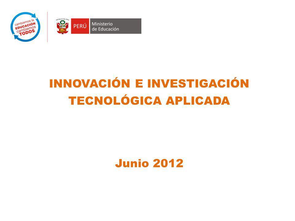 INNOVACIÓN E INVESTIGACIÓN TECNOLÓGICA APLICADA