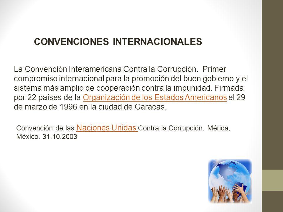 CONVENCIONES INTERNACIONALES