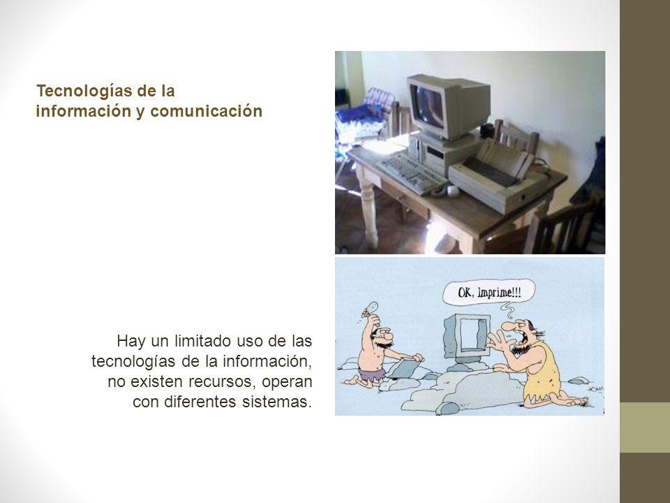 Tecnologías de la información y comunicación.