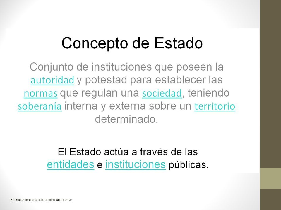 Fuente: Secretaría de Gestión Pública SGP