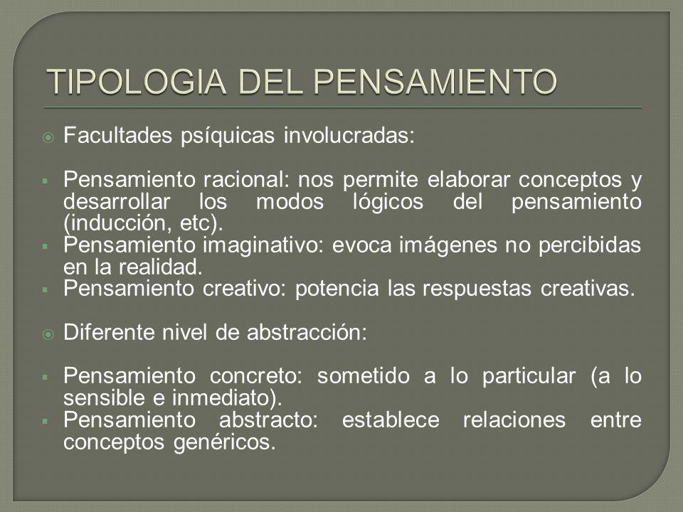 TIPOLOGIA DEL PENSAMIENTO