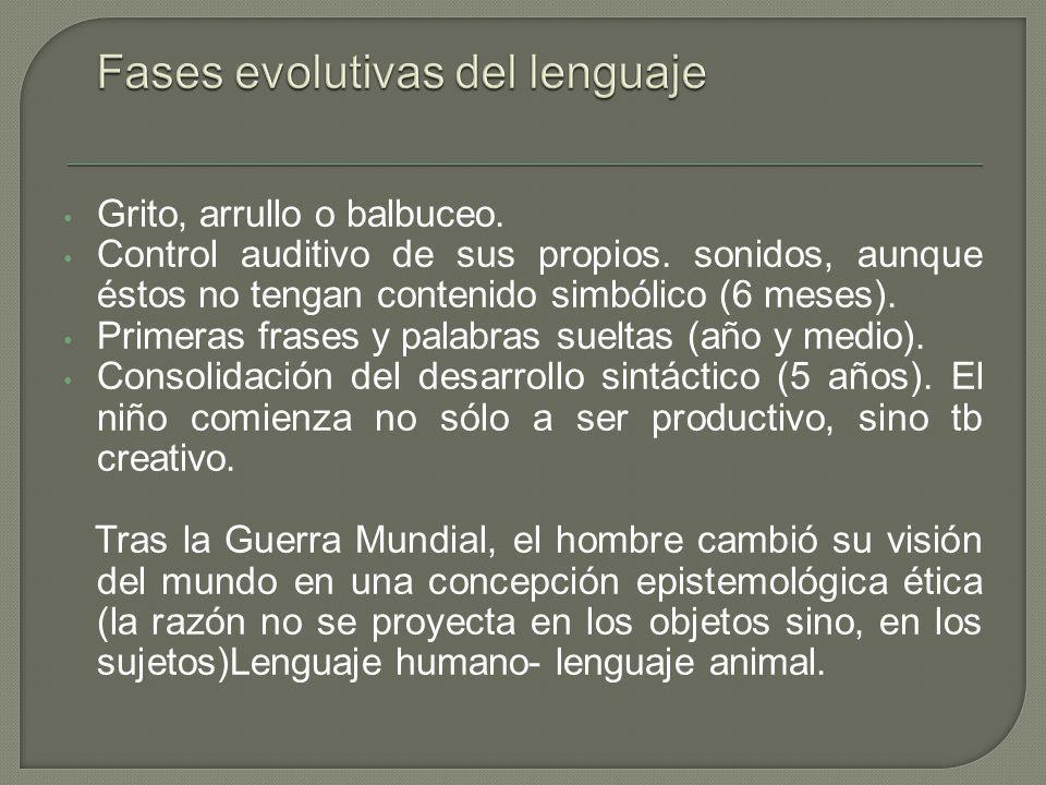 Fases evolutivas del lenguaje