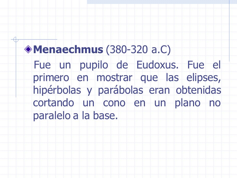 Menaechmus (380-320 a.C)
