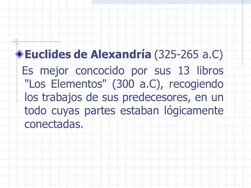 Euclides de Alexandría (325-265 a.C)