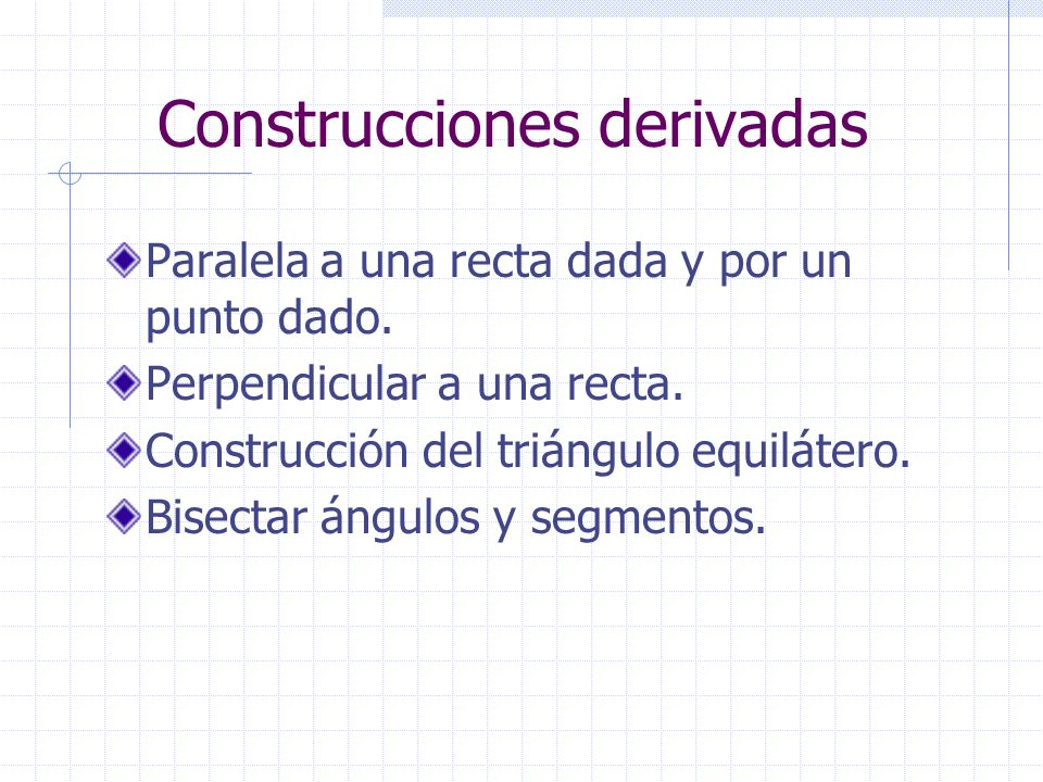 Construcciones derivadas
