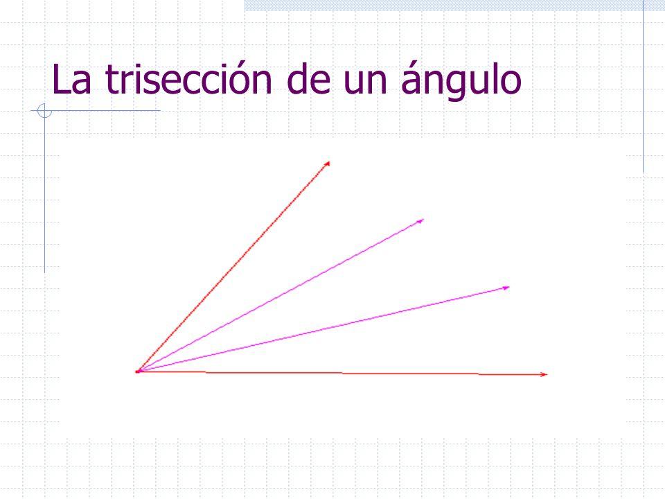 La trisección de un ángulo
