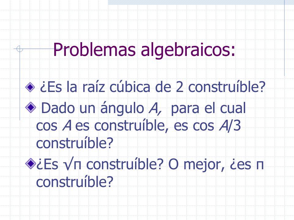 Problemas algebraicos: