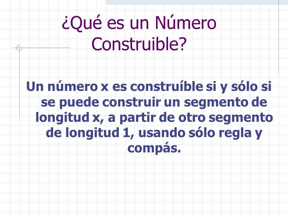 ¿Qué es un Número Construible