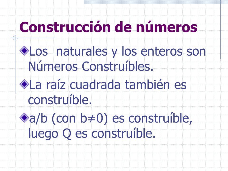 Construcción de números