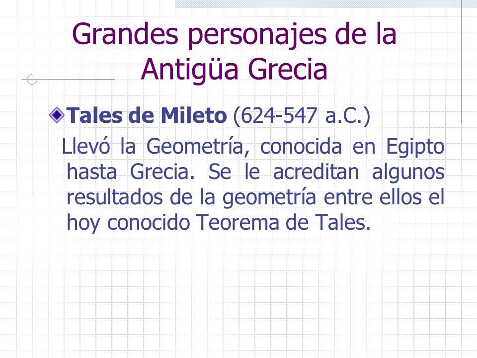 Grandes personajes de la Antigüa Grecia