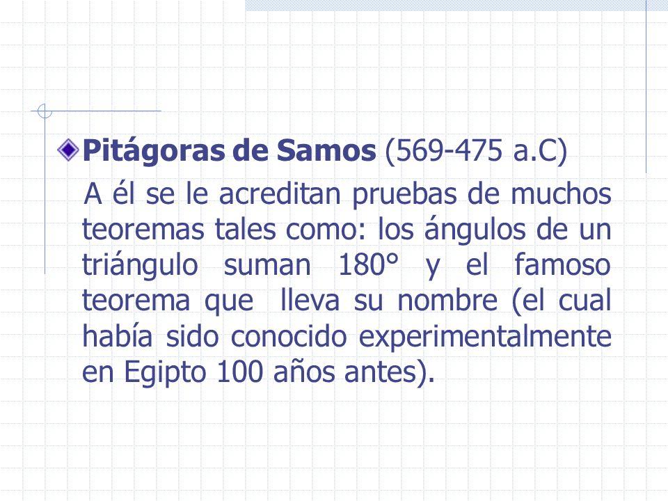 Pitágoras de Samos (569-475 a.C)