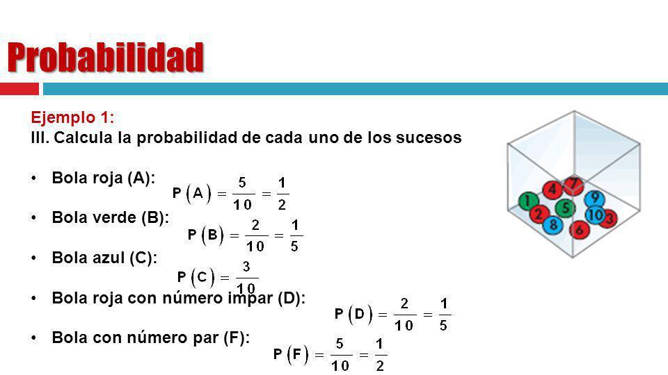 Probabilidad Ejemplo 1: