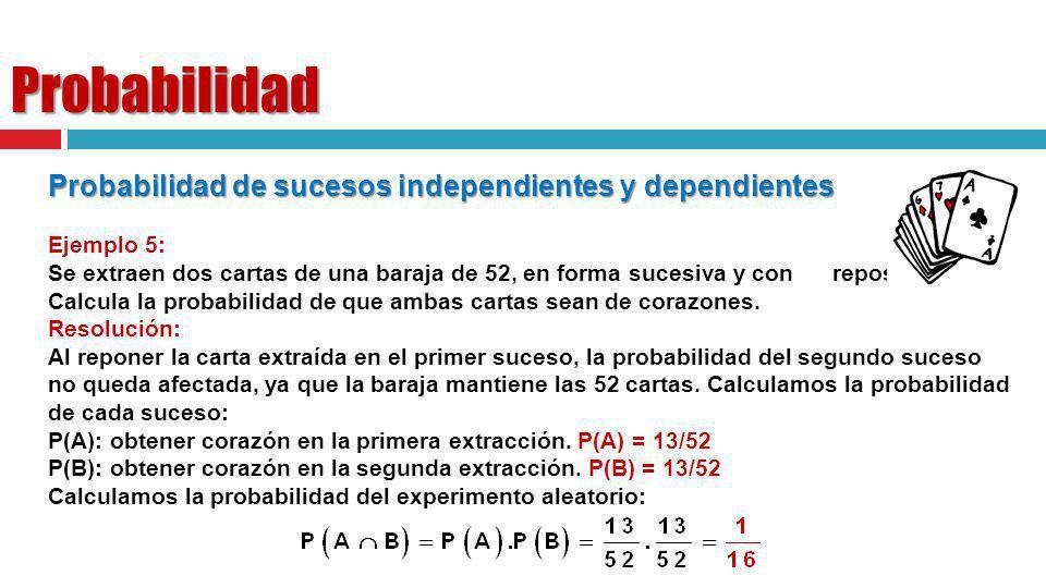 Probabilidad Probabilidad de sucesos independientes y dependientes
