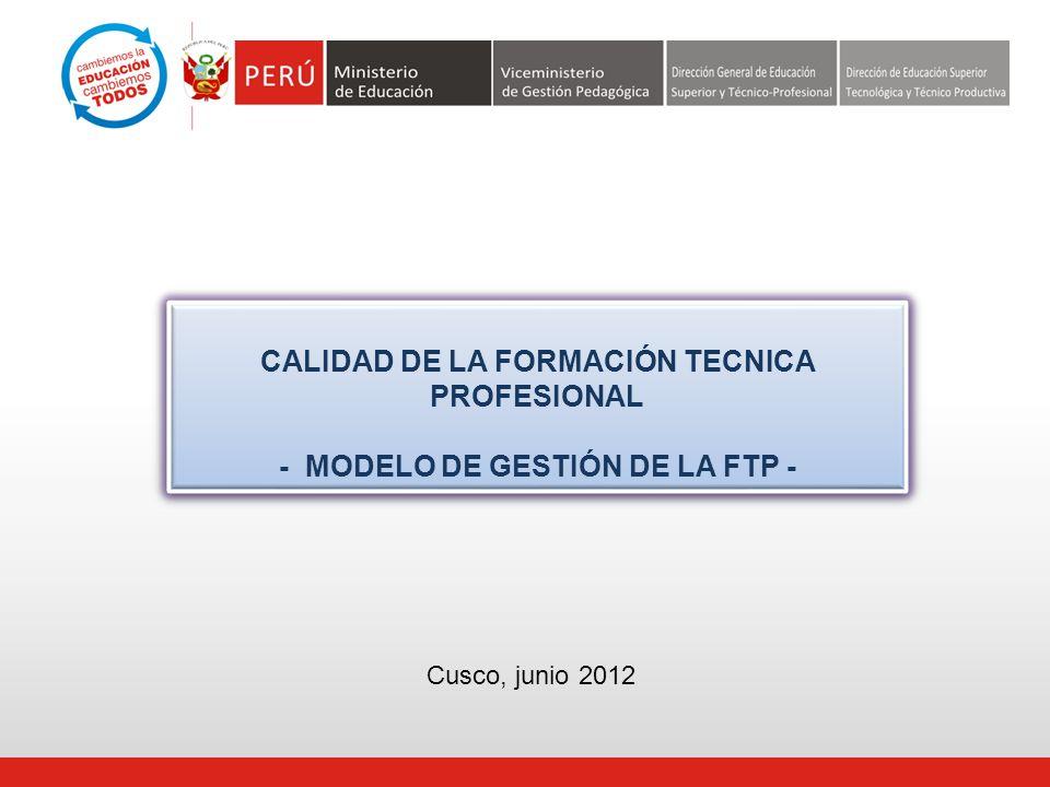 CALIDAD DE LA FORMACIÓN TECNICA PROFESIONAL