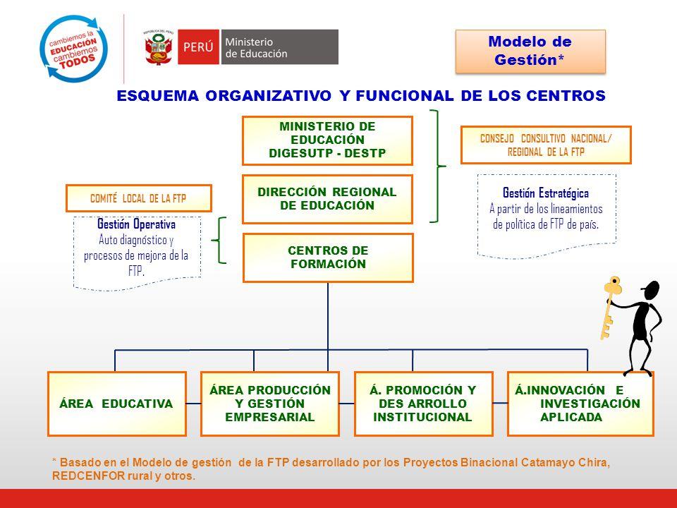 ESQUEMA ORGANIZATIVO Y FUNCIONAL DE LOS CENTROS