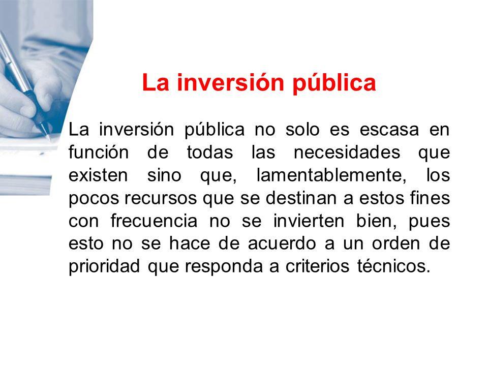 La inversión pública