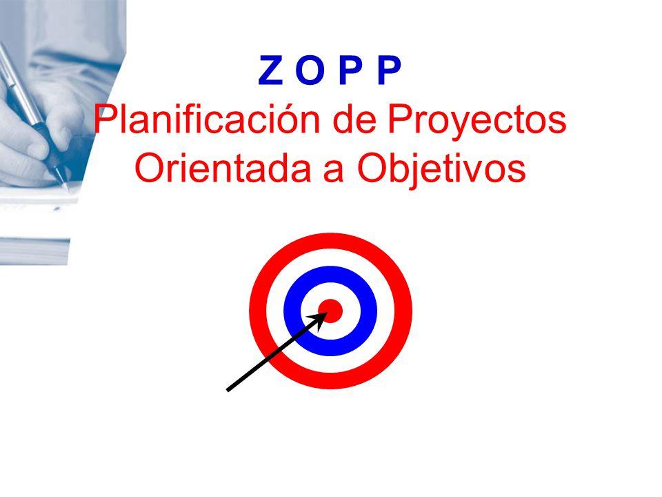 Z O P P Planificación de Proyectos Orientada a Objetivos