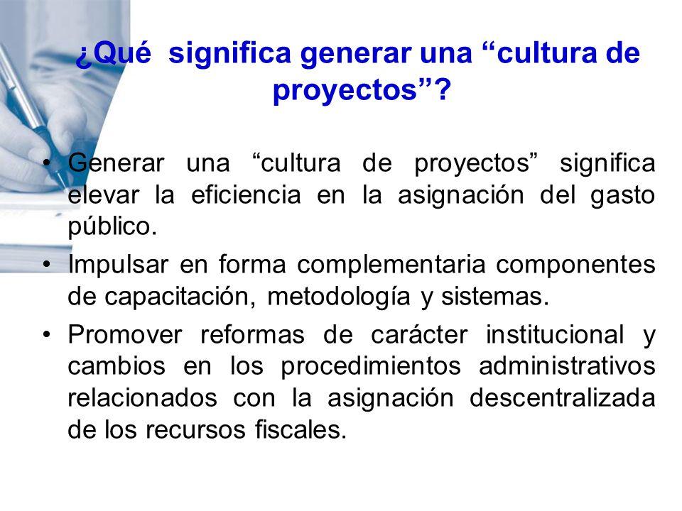¿Qué significa generar una cultura de proyectos