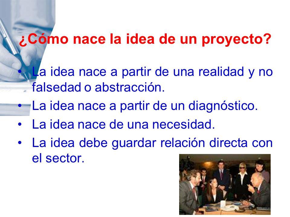 ¿Cómo nace la idea de un proyecto