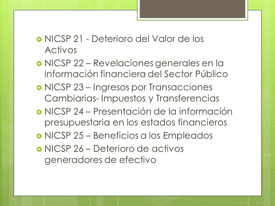NICSP 21 - Deterioro del Valor de los Activos