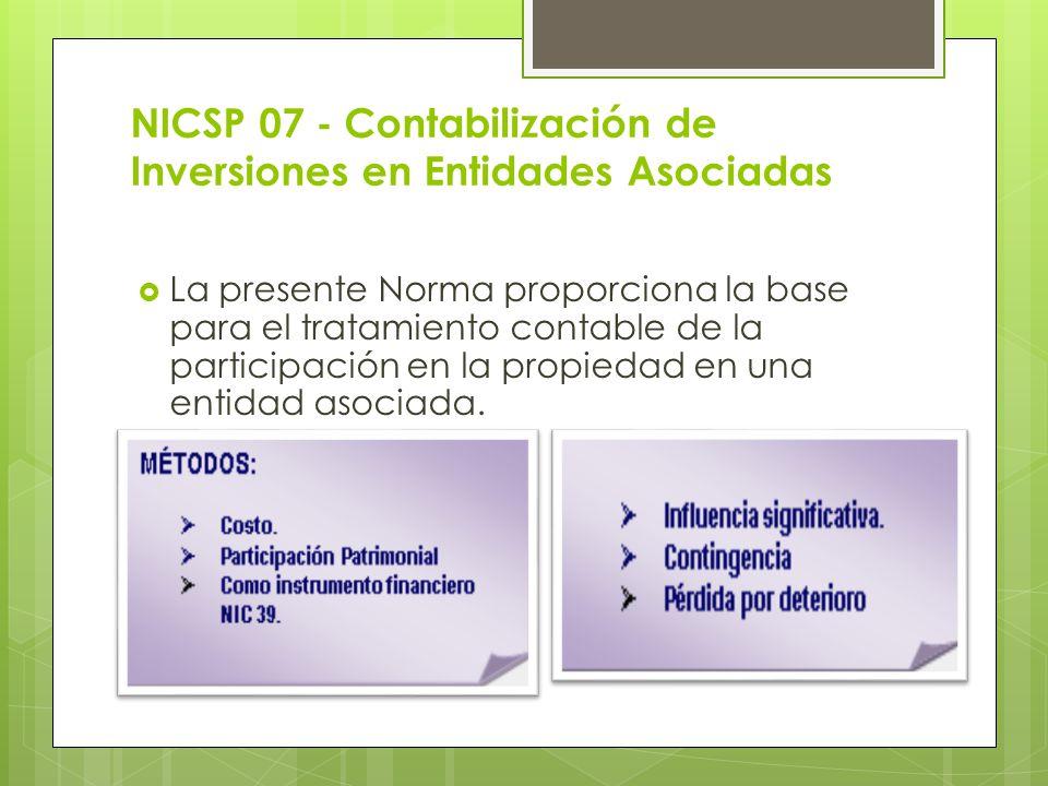 NICSP 07 - Contabilización de Inversiones en Entidades Asociadas